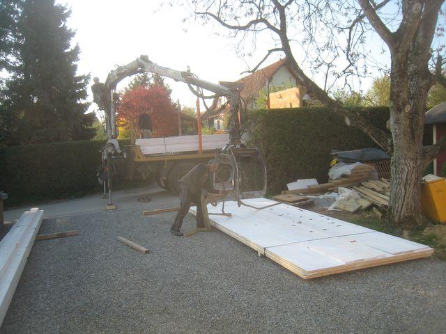 aufstellen carport tag 1 ludersdorf altenberg. Black Bedroom Furniture Sets. Home Design Ideas